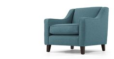 Halston Armchair, Teal Weave
