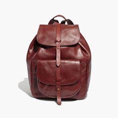 madewell transport rucksack in dark cabernet. #totewell