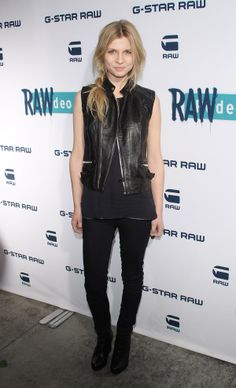 Clemence Poesy- LOVE THE LEATHER VEST!