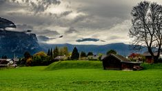 Storm is coming - Its been taken a long time ago. There was a cloudy day in Garmisch Partenkirchen, Germany. Almost all high peaks were covered by clouds.