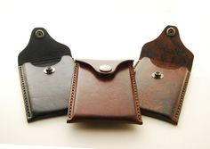 Handmade Leather Business Card Holder With by EchoSix on Etsy, $30.00