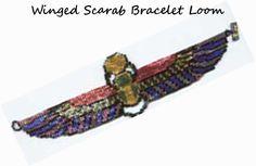 Shimmering Winged Scarab Bracelet LOOM Color Chart Pattern | Bead-Patterns