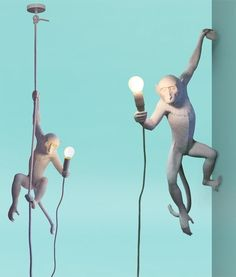 Hanging Monkey Light - Supplied with LED Lamp