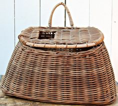 Vintage Woven Fishing Creel Basket. $28.00, via Etsy.