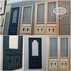 ♥ Pipi Turner Miniatures ♥: ✂ Türen in Aubusson Bleu ✂