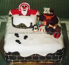 Coolest Christmas Cake... This website is the Pinterest of Christmas cakes