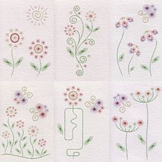 Value Pack No. 61: Flower Power pattern at Stitching Cards.