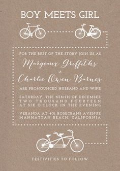 Bicycle Love Wedding Invitations | Green Wedding Shoes Wedding Blog | Wedding Trends for Stylish + Creative Brides