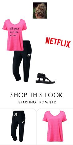 """""""My heart has been broken"""" by modest-flute ❤ liked on Polyvore featuring NIKE, Boohoo and Skechers"""