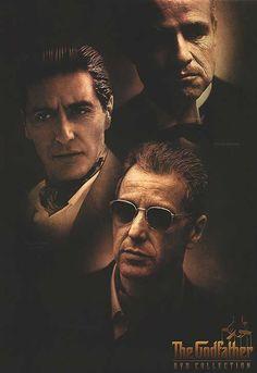 GODFATHER---------------Marlon Brando & Al Pacino, younger & older