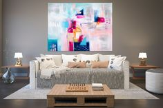 Items similar to Large Modern Wall Art Painting,Large Abstract wall art,texture art painting,abstract originals,bathroom wall art on Etsy Large Abstract Wall Art, Large Painting, Texture Painting, Texture Art, Painting Abstract, Painting Art, Large Art, Knife Painting, Large Canvas