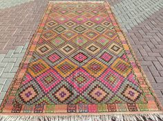 Items similar to Anatolia Antalya Nomads Wool Kilim x Area Rug Kelim Carpet Rug on Etsy Turkish Kilim Rugs, Rugs On Carpet, Decor Styles, Bohemian Rug, Hand Weaving, Area Rugs, Awesome Things, Lovely Things, Hand Painted