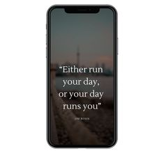 Either run the day, or the day runs you - ProductivityHackr. Self-development. Planning And Organizing, Planning Your Day, How To Do Eyebrows, How To Stop Snoring, Japanese Phrases, Live With Purpose, Drawing For Beginners, Productivity Hacks, How To Stop Procrastinating