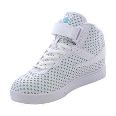 Fila - Girls' Vulc 13 Sparkles Sneakers - White/Aquamarine