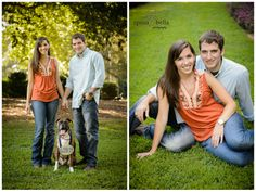 greenville sc wedding photographers photographer weddings at clemson university engagement portraits, engagement with dog, what to wear to an engagement portrait session, engagement portrait ideas