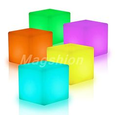 """Magshion*16"""" Cube LED Color Light Stool Outdoor Indoor Home Decor Tables Chair Seat Magshion Furniture http://www.amazon.com/dp/B014X8WUI4/ref=cm_sw_r_pi_dp_LF8Pwb0TDJVX3"""