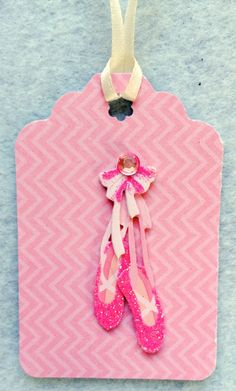 Ballerina Shoe Tags-3 Dimensional-Set of 6 by sentimentsbydesign1