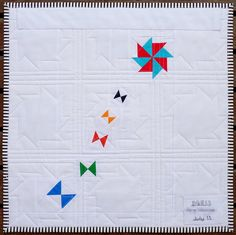 @Red Pepper Quilts  ~  Windmills Quilt Pattern (Back of quilt)