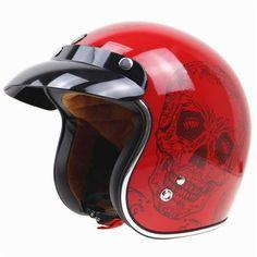 Brand New Vintage helmet TORC retro motorcycle helmet for chopper bikes for Harley bikes motorcycle helmet Skull Motorcycle Helmet, Skull Helmet, Bicycle Helmet, Vintage Bicycles, Vintage Motorcycles, Open Face Helmets, Skull Design, Chopper, Redheads