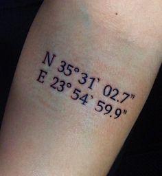 My new coordinate tattoo ❤️ #coordinatetattoo #girltattoo #smalltattoo