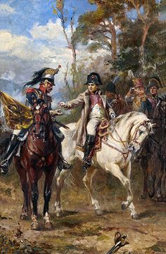 "Napoleon on Horseback"", by Robert Alexander Hillingford."
