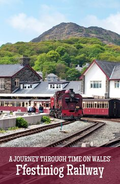 A train journey through time on the historic Ffestiniog Railway in North Wales, from Snowdonia's mountains at Blenau Ffestiniog to Porthmadog by the sea.