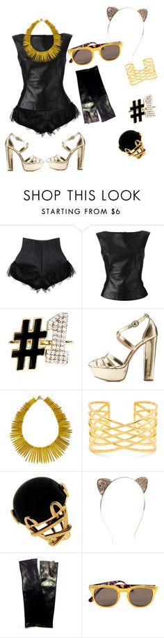 """party night!"" by fashionterroriststyle ❤ liked on Polyvore featuring Natasha Zinko, Gareth Pugh, Alison Lou, Qupid, Janna Conner Designs, Valentin Magro, Urstadt.Swan, Spektre, women's clothing and women"