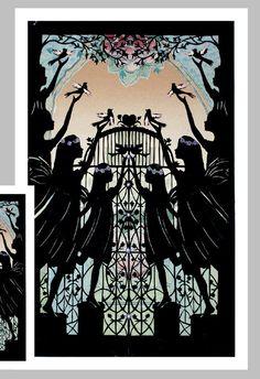 Angels Sympathy Card  Bereavement Silhouette Card by NancyMichalak