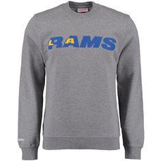 Men's Los Angeles Rams Mitchell & Ness Gray Retro Sweatshirt