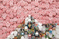 near the edge of the world - installation by jacob hashimoto