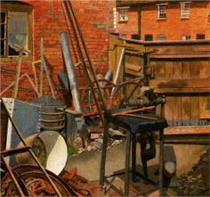 The Blacksmith's Yard, Cookham - Stanley Spencer