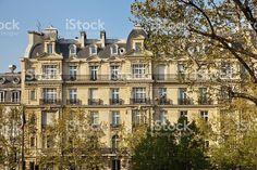 Paris City Apartments royalty-free stock photo