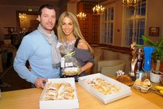 Walter Unger presented Yvonne Simona Rueff  the first of 700 Unger´s Mini Apple strudels for the Dancer Against Cancer ball to be held on 6 April, 2013 in Vienna #DAC  Übergabe (H)unger's Mini Apfelstrudel #DancerAgainstCancer  #Charity #Cancer #Ballroom #Dance #Vienna #Austria #Hofburg