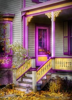 Purple/yellow porch