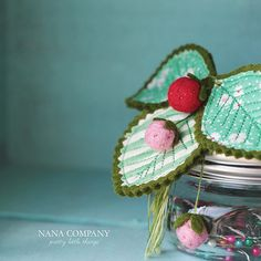 wee felt ball strawberries