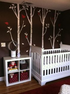 Finished product: Max's red and brown nursery.