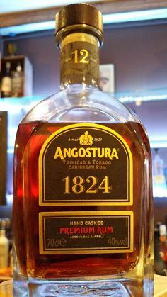 Rum Angostura 1824 12 ans Trinidad et Tobago Alcoholic Drinks, Beverages, Cocktails, Caribbean Rum, Plantation, Tequila, Whisky, Whiskey Bottle, Wines
