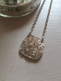 Sterling Silver Handmade Woodgrain Pendant Necklace Hallmarked in Scotland by PreciousSparkleGifts on Etsy https://www.etsy.com/listing/237942215/sterling-silver-handmade-woodgrain