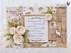 Crafting ideas from Sizzix UK: A vintage card by Olga