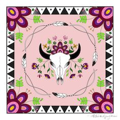 These Limited Edition silk scarves feature the original artwork of designer, Angela DeMontigny. They ...