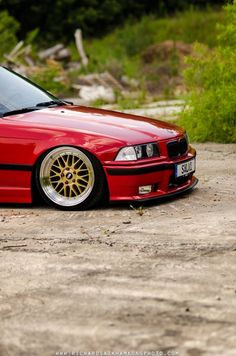 Nice pic of a BMW E36 coupé on BBS LM cult wheels