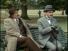 Poirot  & Chief Inspector Japp in The Veiled Lady