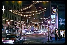 Downtown Houston, TX, at Christmastime in the early 1960's...