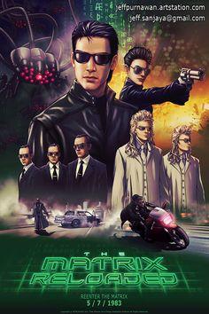 The Matrix Reloaded - Jeffery Purnawan Geek Movies, Cult Movies, Sci Fi Movies, Films, Epic Movie, Hits Movie, The Matrix Movie, Matrix Reloaded, Rpg