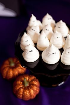 Meringue ghosts are the perfect spooky treat at a Halloween party!