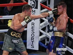 """Frontproof Media was in attendance for all the festivities surrounding the middleweight championship bout between Gennady """"GGG"""" Golovkin and Saul """"Canelo"""" Alvarez. Check out the photos showcasing the entire event. Boxing Gym, Boxing Training, Boxing News, Boxing Workout, Triple G, Gennady Golovkin, Professional Boxing, Canelo Alvarez"""