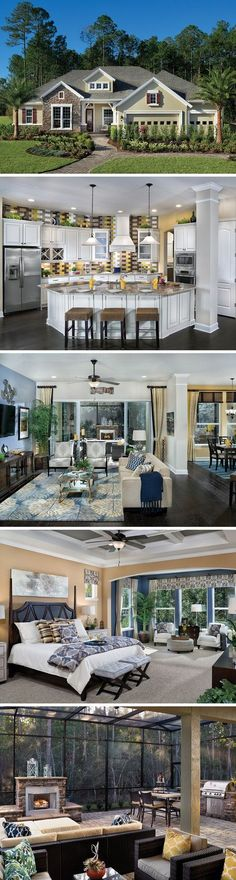 Get the sociability you want and the privacy you need in The Southfield in Jacksonville, FL! In this family-friendly plan, the gourmet kitchen, large family room and desirable breakfast area are openly connected and perfect for entertaining guests while the kids work on homework in the quiet of the private bedrooms or secluded study. The luxurious outdoor living area is the perfect place to end the day whether you're relaxing with a good book or enjoying quality time with the whole family!