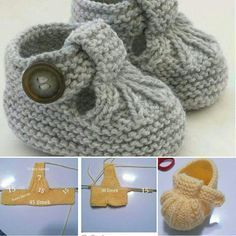 Baby Knitting Patterns 40 + Knit Baby Booties with Pattern - . Baby Booties Knitting Pattern, Crochet Baby Dress Pattern, Crochet Baby Shoes, Crochet Baby Booties, Hand Knitting, Baby Knitting Patterns Free Cardigan, Pattern Dress, Knitting Yarn, Crochet Baby Dresses