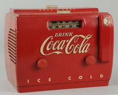 1950's Coca-Cola Cooler Radio.