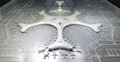 Image 9 of 13 from gallery of MAD Designs a Snowflake-Inspired Terminal for Harbin Taiping International Airport. Photograph by MAD Architects Taiping, Harbin, Mad Design, Modern Design, Parametric Architecture, Architecture Design, Futuristic Architecture, Airport Terminal 3, Airport Design